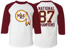 NLU Northeast Louisiana University 1987 National Champions Raglan T-Shirt - $26.99+