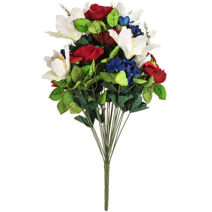 Primary image for Red White Blue Red Rose, White Lily, Mixed Bush