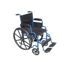 Drive Medical Blue Streak Wheelchair With Footrests 16'' - $146.05