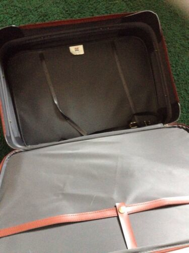 "Vtg American Tourister Luggage Ultra Light Tech 25 "" Suitcase Wheels & Handle"