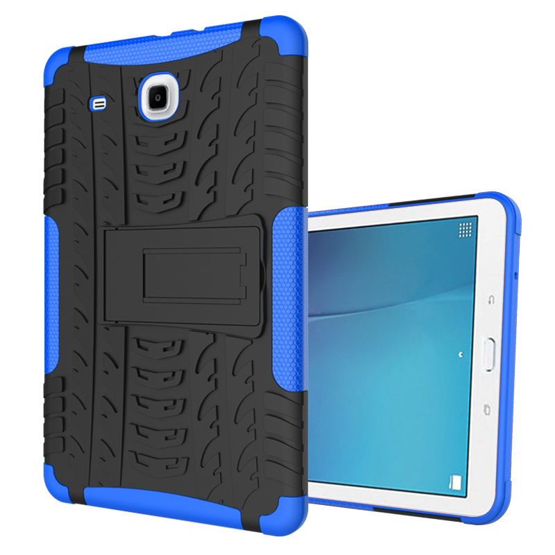 Duty Hybrid Kickstand Cover Case For Samsung Galaxy Tab E 9.6inch T560 - Blue