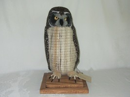 Hawaiian Pueo Owl Sculpture Figurine Handwoven Fabric Yarn Fiber Art Spi... - $136.13