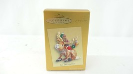 Hallmark QXC5006 All Decked Out Club Exclusive Reindeer Ornament - $14.84