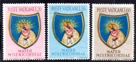 1954 Our Lady of Ostra Brama Set of 3 Vatican Stamps Catalog Number 189-91 MNH