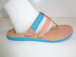 UGG Australia Size 7 AUDRA Surf Blue Leather Braid Sandals New Womens Shoes - $98.01