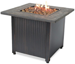 Uniflame lp Firepit 30,000 btu Propane 30 Inch Patio Deck Tile Mantle Fi... - $259.65