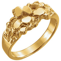 14K Yellow Gold Men's Nugget Ring - $555.00+