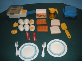 Vtg. Fisher Price Fun with Food #2115 Super Skillet Breakfast Comp./EXC+... - $80.00
