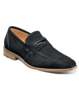 Stacy Adams Colfax Penny Loafer Shoes Black Suede 25205-008 - £59.32 GBP
