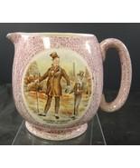 "Antique Pink Luster Jug ""Micawber Introduces David To London"" - $21.27"