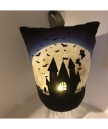 Halloween Lighted Haunted House Ghost Graveyard Weighted Doorstop Holida... - $29.99