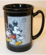 Mickey the Original Cartoon Mouse Black Red Disney Store Coffee Cup Tea Mug - $34.95