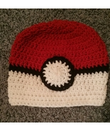Pokemon Poke Ball Inspired Handmade Crochet Beanies - $23.00