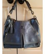 Dooney & Bourke Florentine Leather Denim kingston Hobo - $198.00