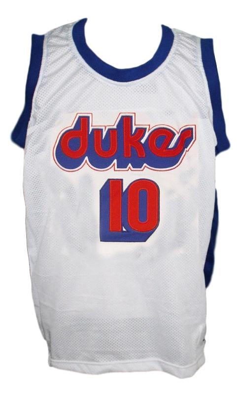 Norm Nixon #10 Dukes Basketball Jersey New Sewn White Any Size