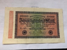 Germany 20000 marks banknote 1923 #1 - $7.95
