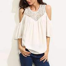 Fashion Quarter Sleeve Cut Out Sleeve Women Tops - $13.60