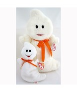 Spooky The Ghost 4th Gen Ty Beanie Baby and Buddy Set Retired MWMT Hallo... - $29.65