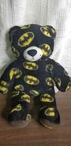 Build A Bear 2014 Batman superhero Bat themed soft fleece Plush Teddy Be... - $22.76