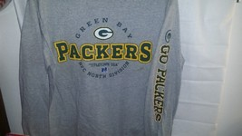 Green Bay Packers, Adult Large Cotton Blend NFL Team Apparel Long Sleeve... - $5.99