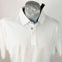 Tommy Hilfiger White Polo Sz L Tournament Golf New Tag - $35.99