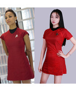 star trek into darkness star fleet uhura costume dress cosplay  red halloween uniform thumbtall