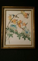 """ASIAN BIRD CHERRY BLOSSOM TREE PAINTING, SIGNED ORIGINAL UP TO 30 """" MED ... - $322.99"""