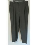 Loro Piana Zanella Black Pleated Tasmania Pants Super 130s Bennett Wool ... - $54.44