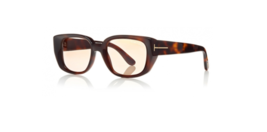 New TOM FORD TF492 52E 52MM Sunglasses Dark Havana Frame / Yellow Brown - $108.89