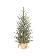 "Holiday Green Fir Tree w/Burlap Base Christmas Decoration 36"" Indoor Use  - $50.00"