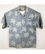 JAMAICA JAXX Mens Light Blue 100% Silk Wood Button HAWAIIAN Camp Shirt S... - $20.89