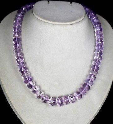 PINK AMETHYST BEADS FACETED CUT 1 LINE 704 CARATS GEMSTONE LADIES NECKLACE