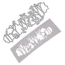 The Deer Cutting Dies Cutting Stencil Embossing Mold Alloy DIY Crafts fo... - £11.94 GBP