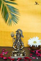 Lord Shiva Brass Statue, Padmasana Shiva , Sitting Shiva, Gift, Home Decor, Hind - $105.00