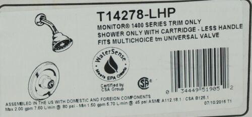 Delta 1400 Series Trim Shower Only T14278LHP Fits Multichoice Universal Valve