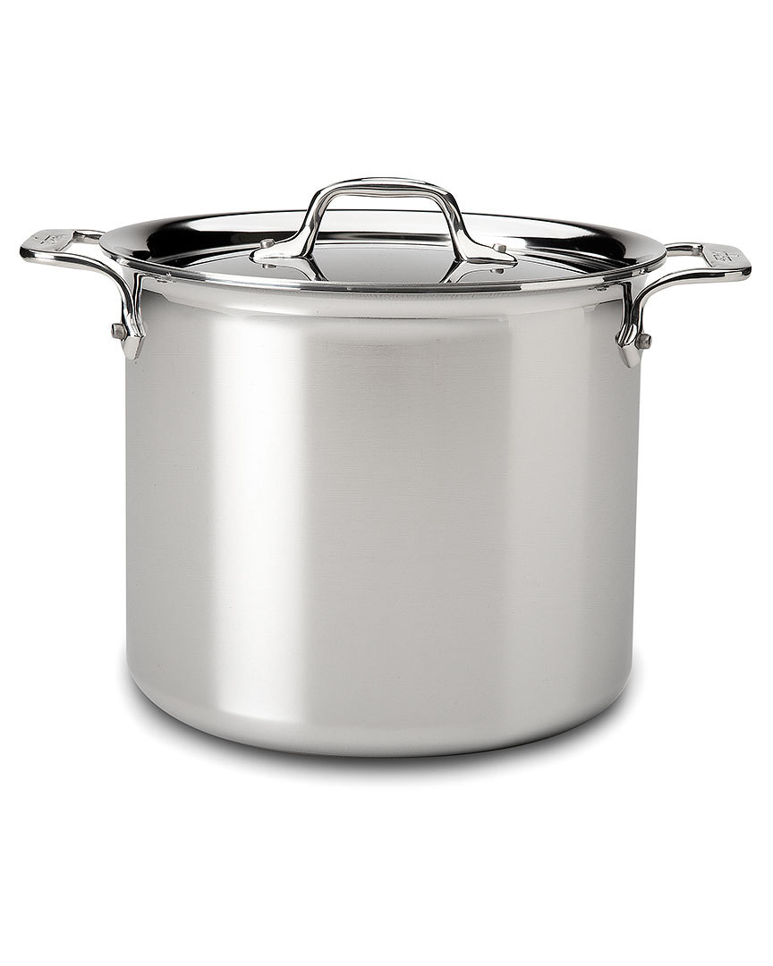 Primary image for All-Clad Stainless Steel Tri Ply Covered 7qt Stock Pot