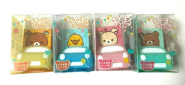 Rilakkuma Eraser with Stand Case Car Type 4 pieces SAn-X Cute Rare Matom... - $17.60
