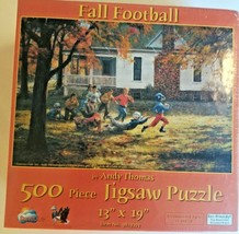 Factory Sealed Sunsout Fall Football By Andy Thomas 500 Piece Puzzle  - $28.04