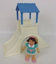 Fisher Price Loving Family Dream Dollhouse Toys Playground w Girl Vintag... - $19.55
