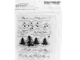 Stampendous Clear Acrylic Stamp Set Evergreen Borders #SSC1012