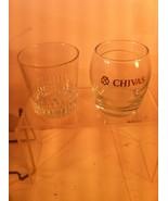 (2)  CHIVAS REGAL SCOTCH WHISKEY GLASSES--TUMBLER / COCKTAIL- -FREE SHIP... - $17.96