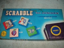 VINTAGE 1958 SCRABBLE FOR JUNIORS CROSSWORD SELCHOW RIGHTER UNUSED NEW - $39.99