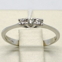Anillo Oro Blanco 750 18K, Trilogy con Diamante Quilates 0.15 , Hecho en Italia image 1