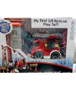 My First Rescue Play Set Fire Station Set Silverlit Sounds Lights NEW - $39.99