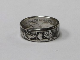 Coin ring made from 1943 Silver Walking Liberty Half Dollar in size 9-14 - $33.99