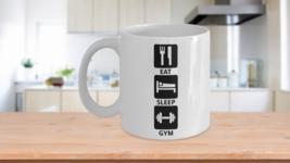 Fitness Eat Sleep Gym Coffee Mug Gift - $14.84+