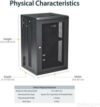 "Startech Wallmount Server Rack Cabinet 18U 20"" Deep, Hinged Door 200 - $559.99"