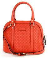 Gucci GG Micro Guccissima Leather Cross Body Bag Small Handbag Orange RR... - $929.44