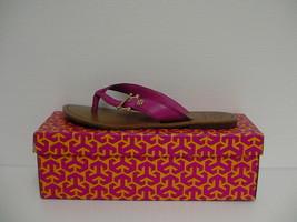 Women's Tory Burch Nora Flat Thong-Mestico Fuschia Pink size 8.5 us - $138.55