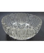 American Brilliant Period hand Cut Glass bowl Antique blown blank - $111.27